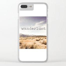 Wanderlust Clear iPhone Case