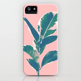 Ficus Elastica Finesse #3 #tropical #foliage #decor #art #society6 iPhone Case