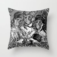 sister Throw Pillows featuring SISTER  by DIVIDUS