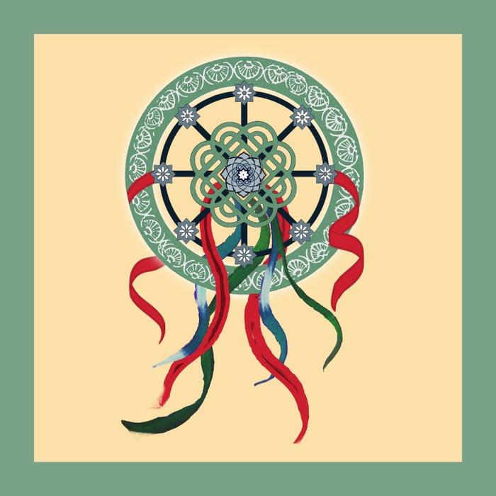 Mandala with Ribbons Duvet Cover