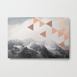 Mountains  - Vintage - Nature Photography Metal Print