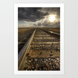 On the Rails Art Print