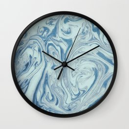 Marble Acrylic Blue Turquoise  Wall Clock