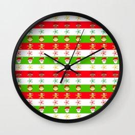 Merry Christmas Whimsy Wall Clock