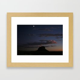 Fajada Butte & Moon Framed Art Print