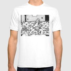 High as that Ivory Tower that You're Standing In Mens Fitted Tee MEDIUM White