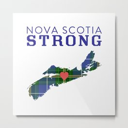 Nova Scotia Strong Metal Print