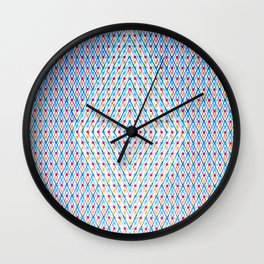 Dots and Triangles Wall Clock