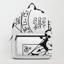 Invisible Sun Symbol on White Backpack