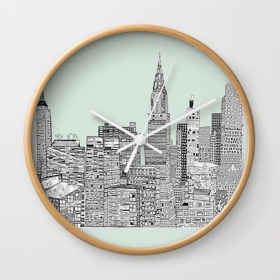 New York vintage  Wall Clock