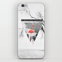 flamingo iPhone & iPod Skins featuring Flamingo by Mehdi Elkorchi