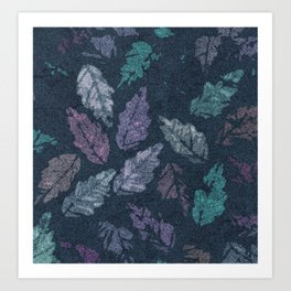 Abstract leaf painting Art Print