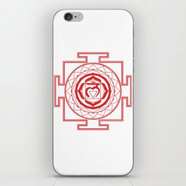 Sri Yantra Root Chakra iPhone Skin