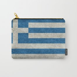 Greek flag in retro grunge Carry-All Pouch