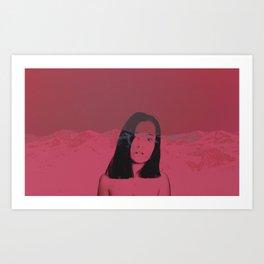 pink solitude Art Print