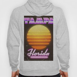 Tampa Florida 1980s travel poster Hoody