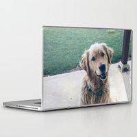 golden retriever Laptop & iPad Skins featuring Golden Retriever by CallieDavis