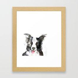 Inky Dog Framed Art Print
