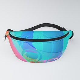 Colorful Circular Rainbows Fanny Pack
