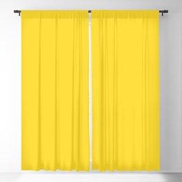 Solid Color Pantone Vibrant Yellow 13-0858 Blackout Curtain