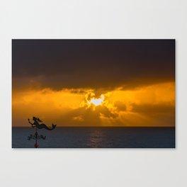 Mermaid Sun Rays Canvas Print