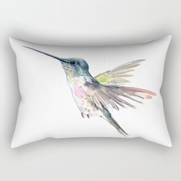 Flying Little Hummingbird Rectangular Pillow