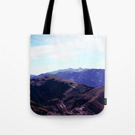 mountain ridges Tote Bag