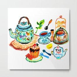 The tea room, Afternoon Tea Metal Print