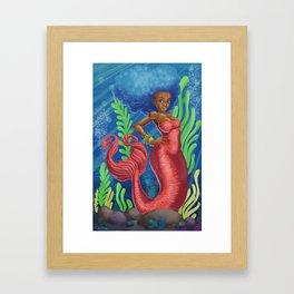 Sweetheart - MerMay Mermaid. Framed Art Print