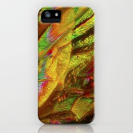 BEE WINGS MAGNIFIED - HYLAEUS PICTIPES iPhone Case