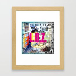 ''LOZ'' Lausanne, Switzerland 2014  Framed Art Print