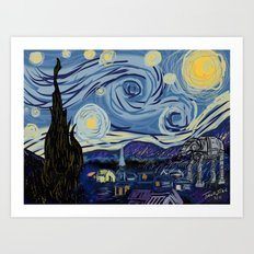 Starry Wars Night Art Print
