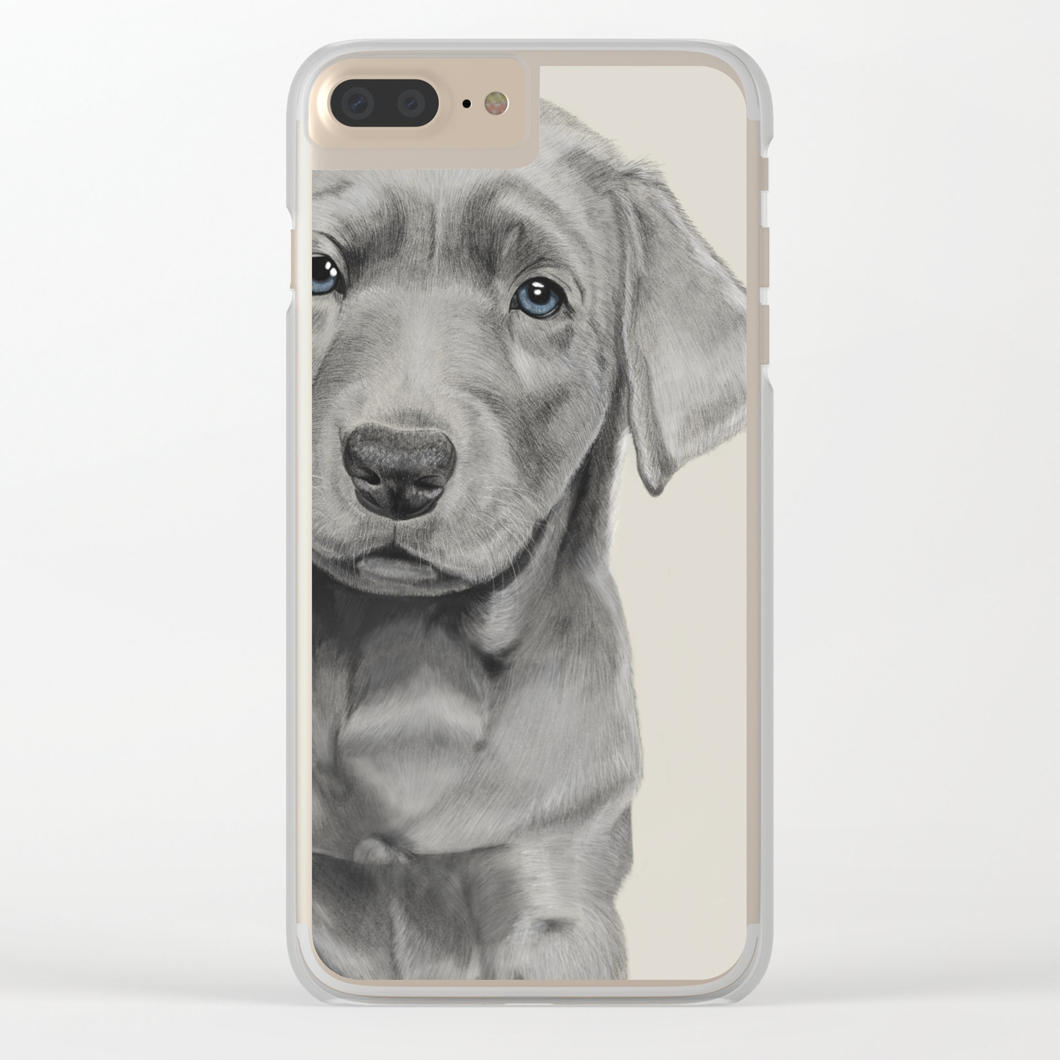 Silver Lab Clear iPhone Case