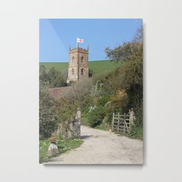 Church and the Flag Metal Print