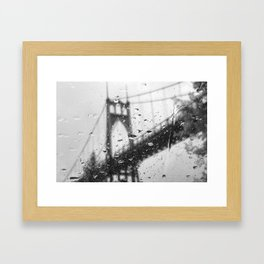 Rainy Bridge Framed Art Print