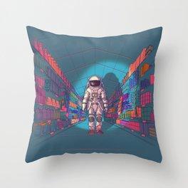 Hollowlove Particle & Wave Throw Pillow