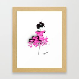 Fashion model looking cool in pink to make the boys wink Framed Art Print