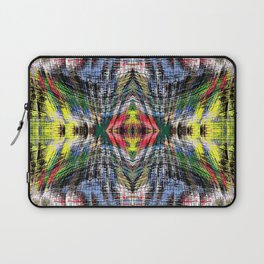 geometric symmetry pattern abstract background in blue yellow green red Laptop Sleeve