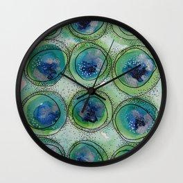 Peacock Circles Wall Clock