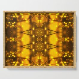 Sparkling Drops-yellow pattern Serving Tray