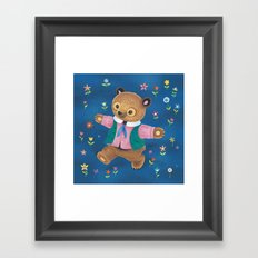 Little Bear and the Flower Garden Framed Art Print