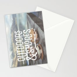 outdoors & S'mores Stationery Cards