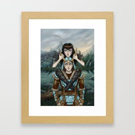 Take my hand and be alive Framed Art Print