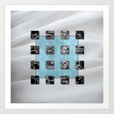 SQUARE AMBIENCE - White Veil Art Print