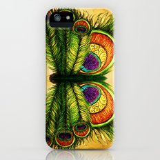 Peacock Feather Fly Slim Case iPhone (5, 5s)