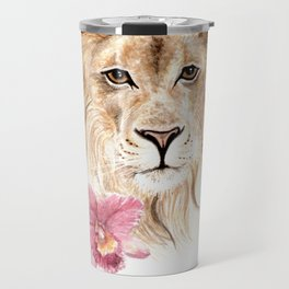 Lion and Orchids - Fauna and Flora 2012 Travel Mug