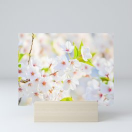 White Flowers Mini Art Print