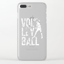 Volleyball Beach Volleyball players Net Clear iPhone Case