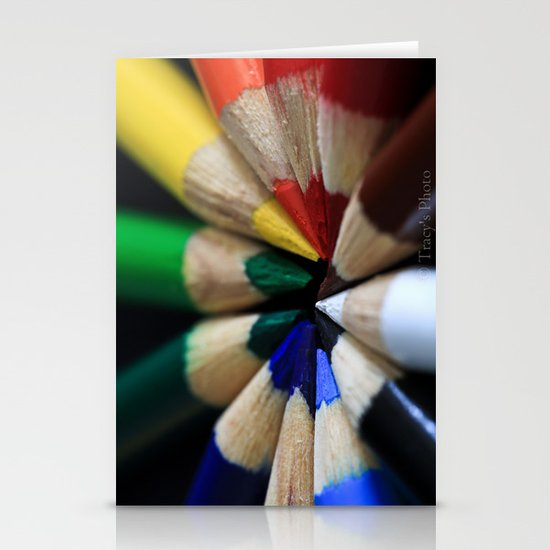 Pencil Color Stationery Cards