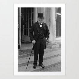 Winston Churchill Art Print